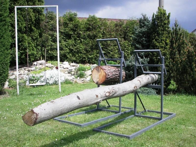 Samosvorná koza na řezání dřeva motorovou pilou Mamut a Klapačka 170